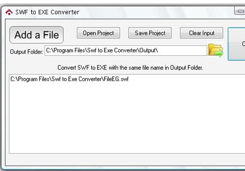 SWF to EXE Converter