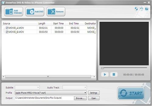 SnowFox DVD & Video to iPhone Converter