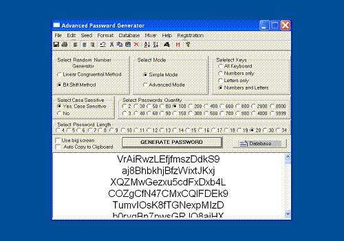 Advanced Password Generator