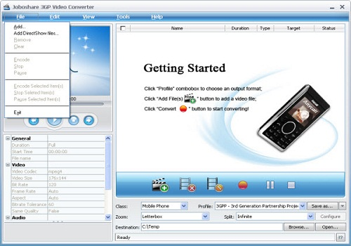 Joboshare 3GP Video Converter