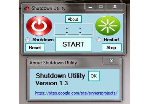 Shutdown Utility