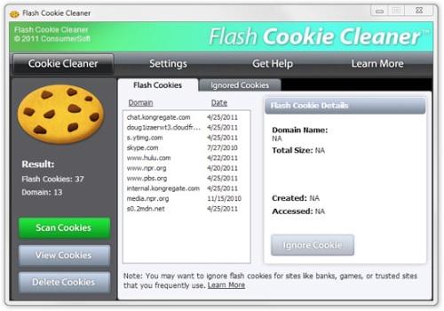 Flash Cookie Cleaner