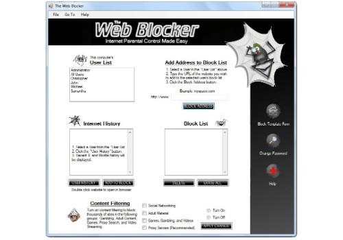 The Web Blocker
