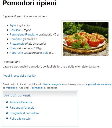 Articoli correlati per categoria con nuovo CSS WordPress