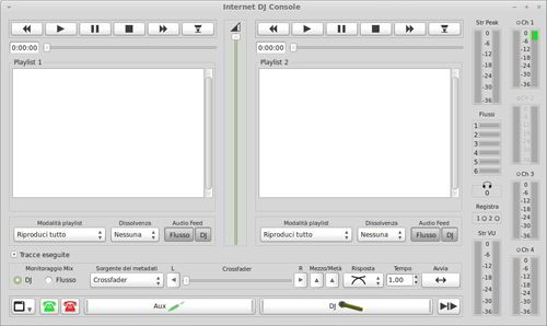 L'interfaccia di IDJC
