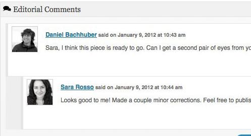 Edit Flow: commenti editoriali