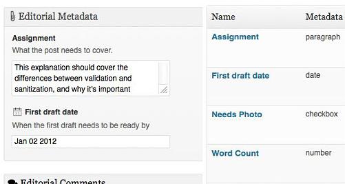 Edit Flow: metadati editoriali