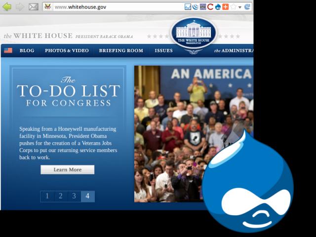 La Casa Bianca usa Drupal