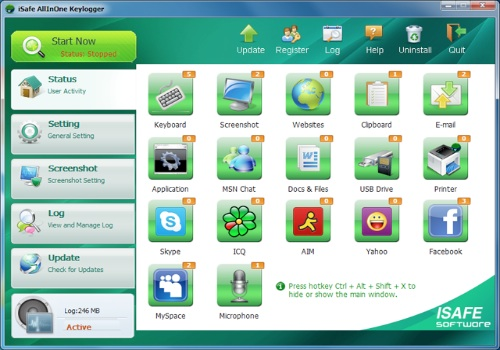 iSafe All In One Keylogger Pro 2012