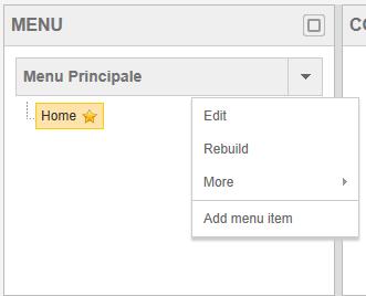 Aggiunta di item tramite il Site Manager