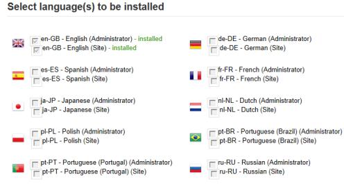 Installazione delle lingue aggiuntive per JSN PowerAdmin