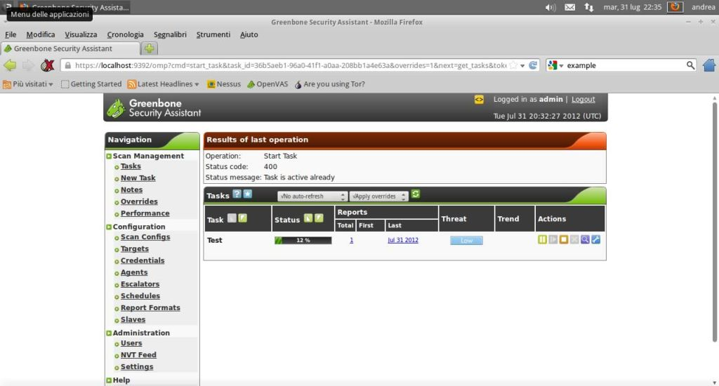 Analisi automatizzata delle vulnerabilità con OpenVAS | HTML it