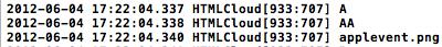 Screenshot della console che mostra la lista dei file contenuti all'interno della cartella Dropbox