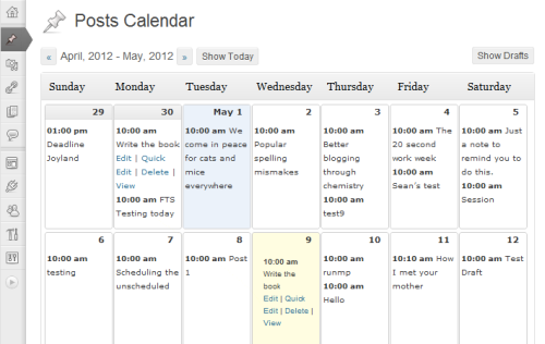 Calendario editoriale in WordPress con Editorial Calendar