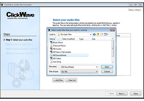ClickWave Audio-File Converter