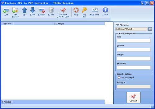 Bistone JPG to PDF Converter