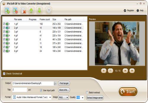 iPixSoft GIF to Video Converter