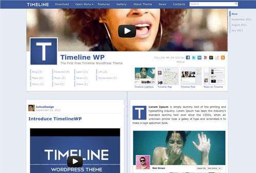 WordPress come Facebook con Timeline WP