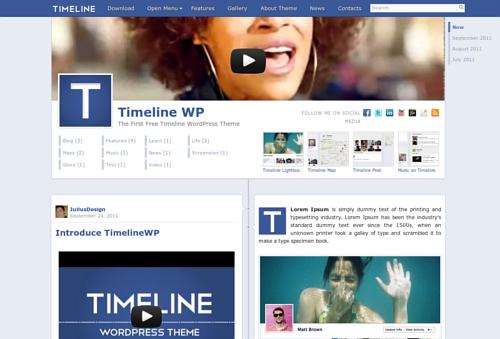 WordPress come Facebook con Timeline WP