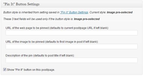 Inserimento del bottone di Pinterest dall'articolo