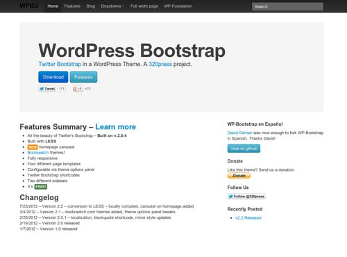 WordPress Bootstrap, e WordPress diventa subito Twitter