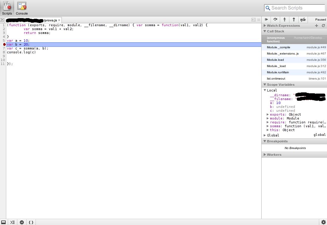 Debug di applicazioni Node js | Guida Node js | Javascript HTML it