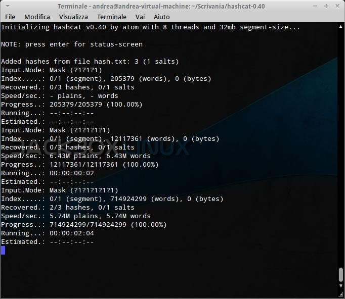 HashCat: tutorial per il password cracking   HTML it