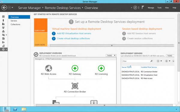 Pannello di controllo dei Remote Desktop Services