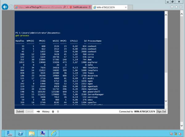 Windows PowerShell Web Access