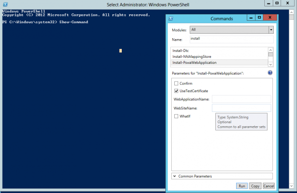 Cmdlet Show-command in PowerShell 3.0