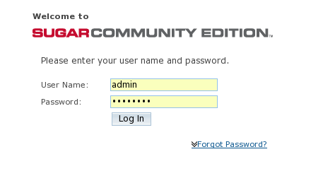 Login per SugarCRM