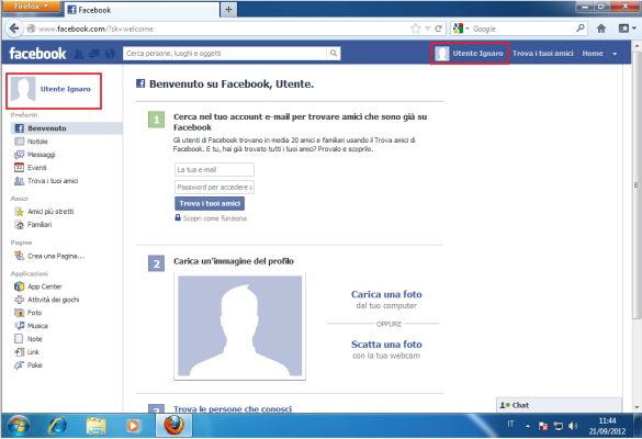 Accesso a Facebook consentito