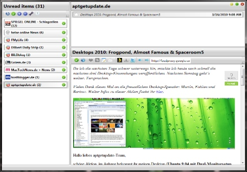 Desktop Google Reader