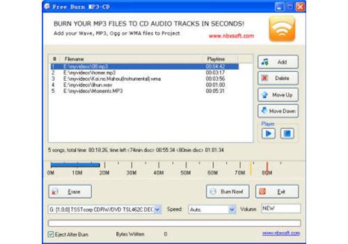 Free Burn MP3-CD