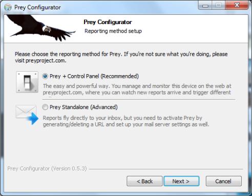 Prey+Control Panel