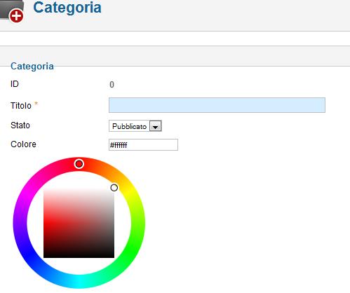iCagenda: creazione delle categorie