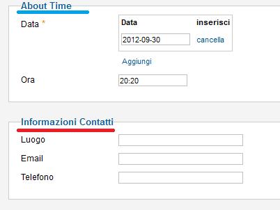 Informazioni sull'evento in iCagenda per Joomla