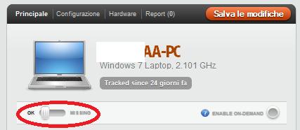 Le impostazioni sul computer