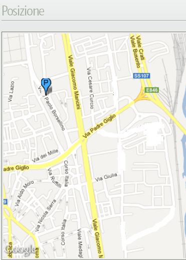 La posizione su Google Maps