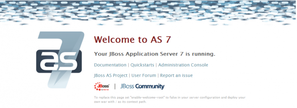welcome page di JBoss