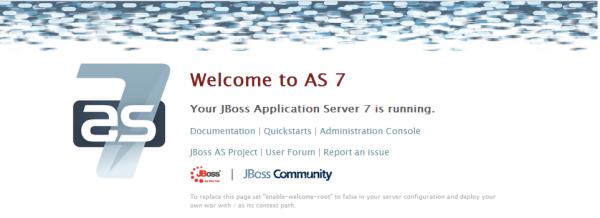 welcome page di JBoss