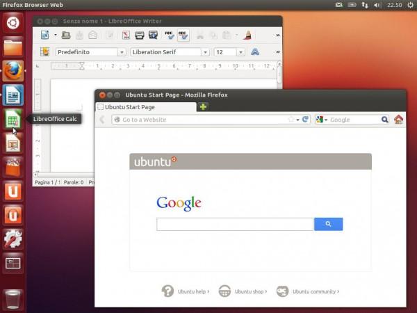 Applicazioni sul desktop di Ubuntu 12.10