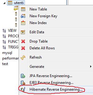 hibernate reverse-engineering