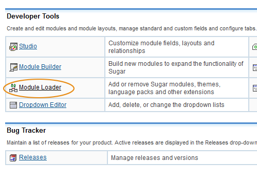 SugarCRM Developer Tools