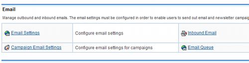 Impostazioni email per SugarCRM