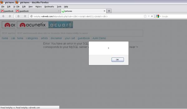 Verifica vulnerabilità di tipo XSS
