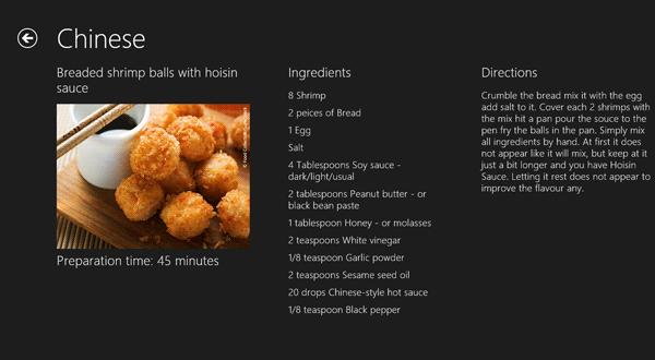 La pagina di dettaglio della ricetta