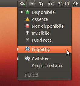 Il nuovo MeMenu su Ubuntu Quantal Quetzal