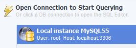 mysql workbench open connection